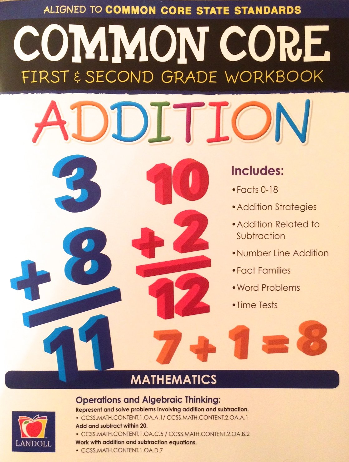 Workbooks kindergarten common core workbook : Amazon.com: Common Core Addition First and Second Grade Workbook ...