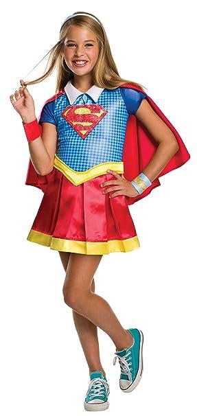 b24a9f14d80 DC Comics - Disfraz de Supergirl licencia oficial para niña, infantil talla  5-6