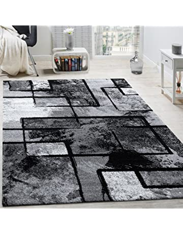 Dimension:80x150 cm Paco Home Tapis Poils Ras Moderne V/ég/étation Nature Effet For/êt Aspect Vert Blanc