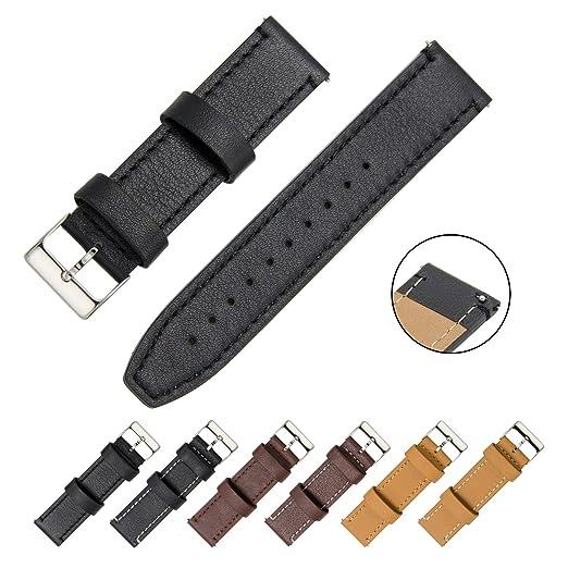 CIVO Correa Reloj - Quick Release Cuero Auténtico correas de reloj Bandas Smart Watch de 18mm 20mm ...