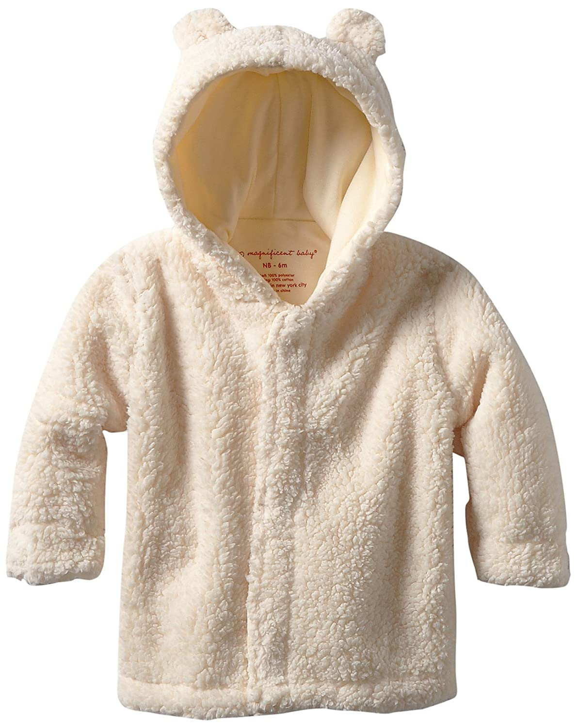 Magnificent Baby Unisex-Baby Infant Hooded Bear Jacket, Cream, 0-6 Months Magnificent Baby Baby 5004U--0-6M