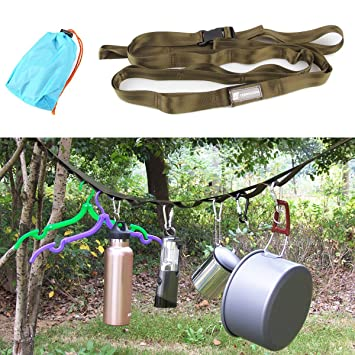 Generic Camping Hiking Tent Nylon Multifunction Hanging Lanyard Cord  Webbing Strap Detachable Portable Outdoor Travel Clothesline