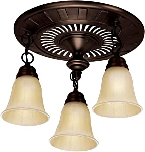 Hunter 80707 Garden District Oil Rubbed Bronze Bath Exhaust Fan and Light (Vent)