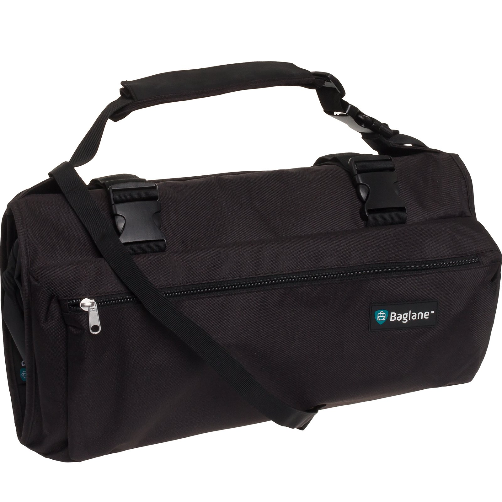 BagLane Garment Suit Bag - Travel Carry On Garment Bag (Black)