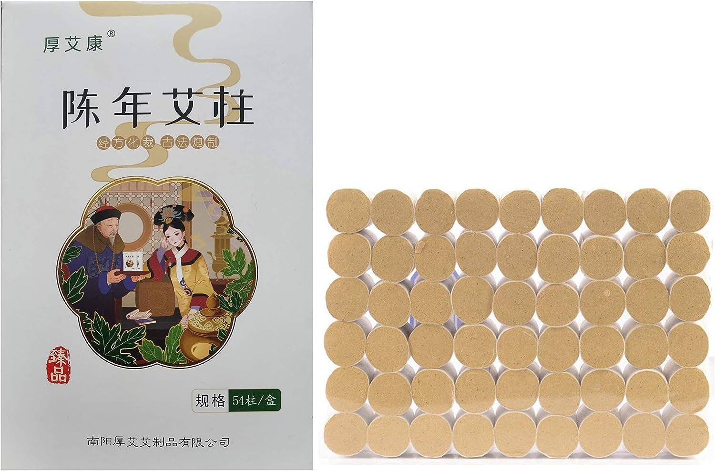 54pcs Moxa Sticks Rolls Wormwood Mugwort Artemisia aijiu Natural Herbal Chinese Medicine Handmade艾灸条5years 35:1For Heating Meridian