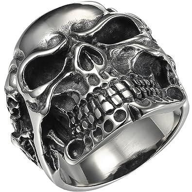 17df02cb9f9c Valyria joyería motorista anillo de los hombres