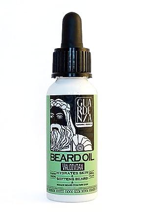 Guardenza - Aceite para barba - Valdiviano - Todo natural 30 ml hidrata la piel y suaviza la barba y reduce el picor de la barba / piel seca: Amazon.es: ...