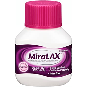 MiraLAX, Unflavored/Grit Free Laxative Powder, 4 1 Ounces, 7 Doses