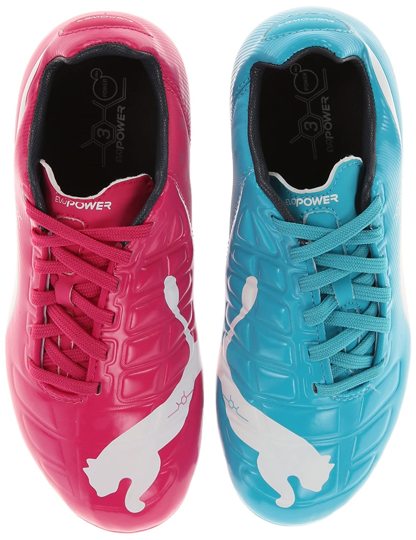 size 40 39442 cb0e7 Puma Evopower 1.0 Tricks TF Pink White Blue White Men s Turf Soccer  PUMA  Evopower 3 Tricks Fg JR Soccer Shoe (Little Kid Big Kid), Beetroot ...