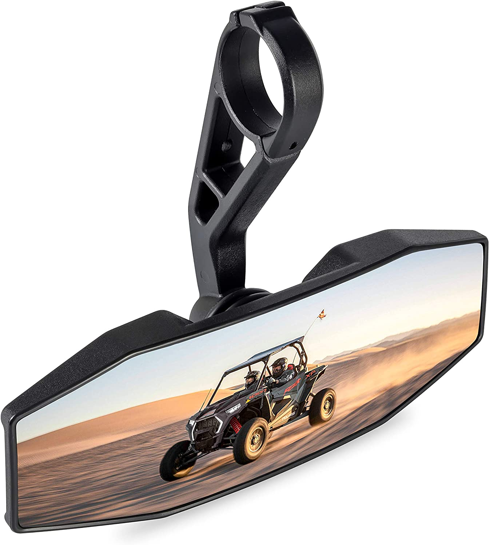 SAUTVS Premium Convex RearView Mirror with 1.75 Clamp for Polaris RZR 800 1000 S 900 XP 1000 General #2881540 RZR Interior Rear View Center Mirror