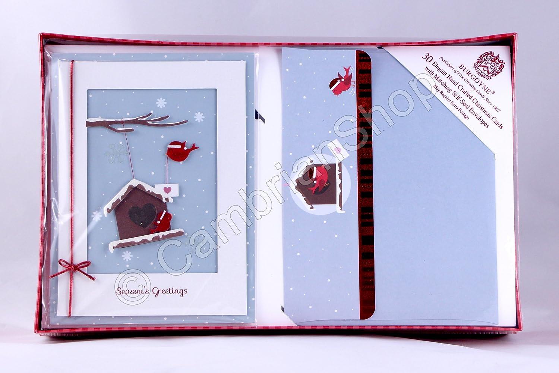 Burgoyne 30 Hand Crafted Hand Made Luxury Christmas Xmas Cards with ...