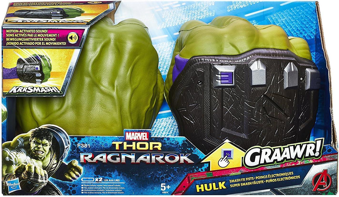 Marvel Hulk Mains Smash FX poings Gants Thor Ragnarok Avengers