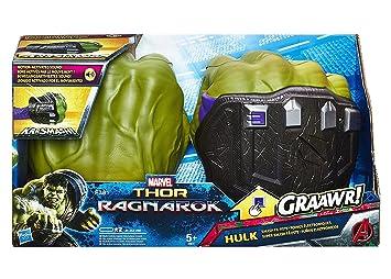 Marvel B9974 - Thor Ragnarok Hulk Smash Motion Activated FX Fists -  Superhero Accessory 9cc706880ba7