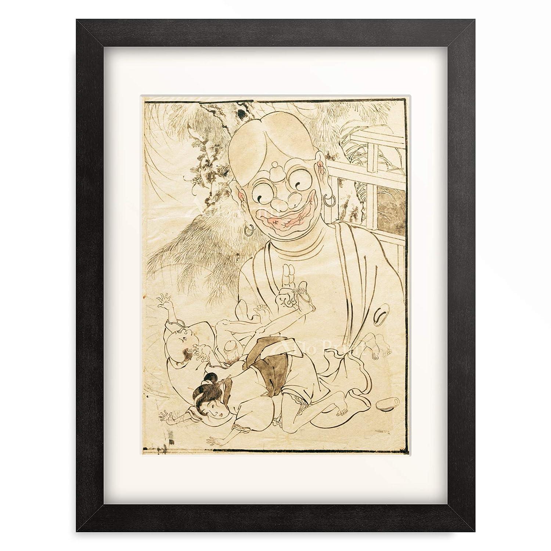 葛飾北斎 Katsushika Hokusai 額装アート作品 L(額内寸 509mm×394mm) 06.木製額 22mm(ブラック) B07PTZGS2N