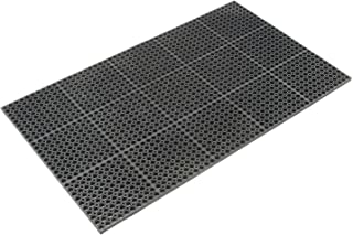 product image for Apache Mills Cushioned Comfort Drainage Matting, 3'W X 5'L, Black, Grease Resistant