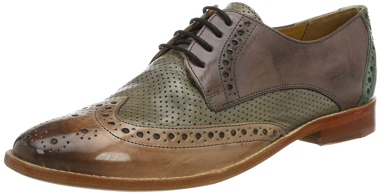 Melvin&Hamilton Amelie 3, Zapatos de Cordones Derby para Mujer 39 EU|Multicolor (Crust Perfo/Pale Rose/Morning Grey /Sweet Water/Ls Nat)