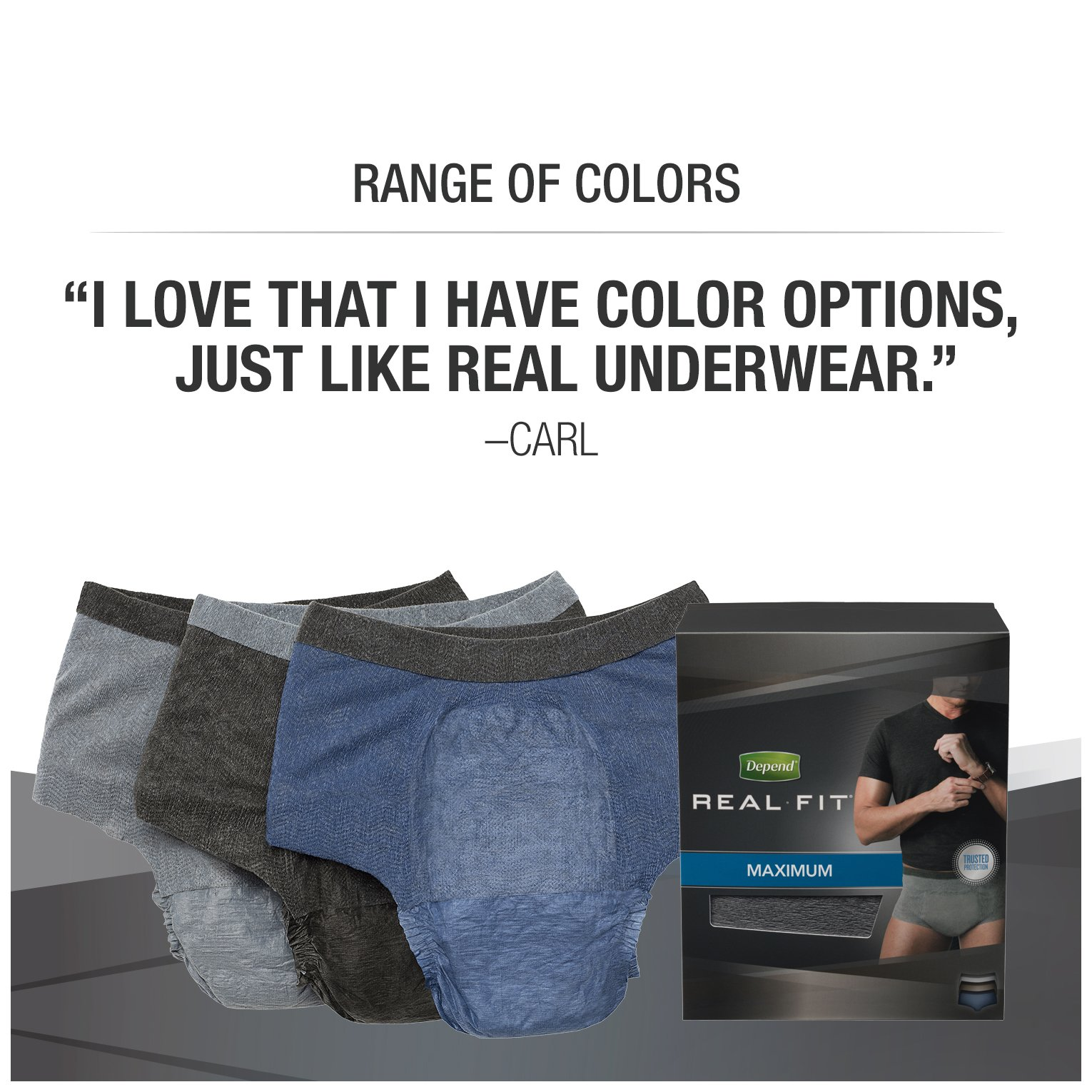 Depend Real Fit Incontinence Briefs for Men, Maximum Absorbency, S/M, Grey by Depend (Image #10)