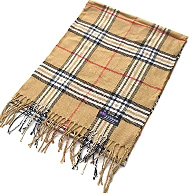 f832ad47a 100% Cashmere Scarf Elegant Collection Made in Scotland Wool Buffalo Tartan  Windowpane Check Plaid (