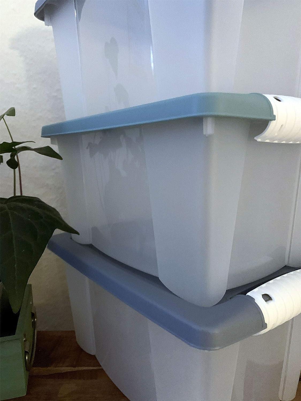 LS-LebenStil 15X Stapelboxen 150x15x15cm Set Stapelbar Allzweckkiste