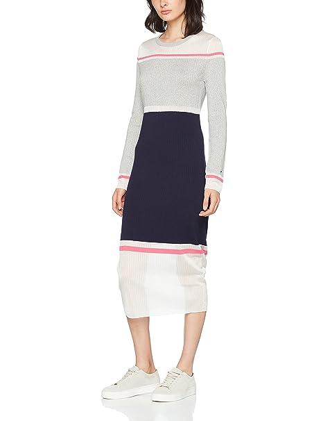 Tommy Hilfiger Gelda Sheer Contrast Dress, Vestido para Mujer: Amazon.es: Ropa y accesorios
