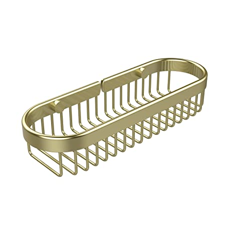 Amazon.com: Allied Brass BSK-200LA-SBR Oval Toiletry Wire Basket ...