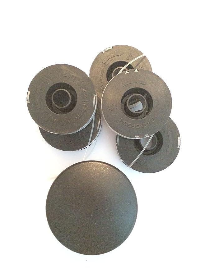 5 bobinas de repuesto con tapa, para desbrozadora eléctrica ...