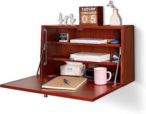 Murphy Desk Fold Out Space Saving Hideaway Foldable Wall Desk