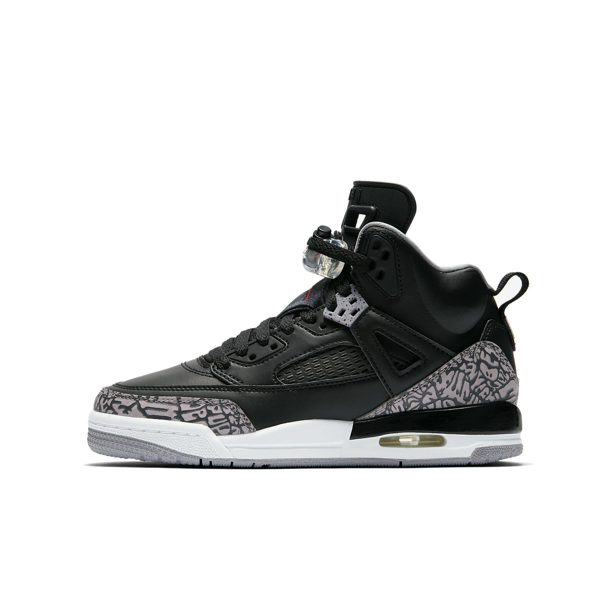Jordan Nike Kids Spizike BG Black/Varsity Red Cement Grey Basketball Shoe 4 Kids US