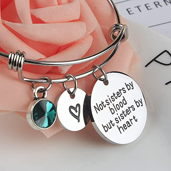 Sisters of the Heart BFS357 Friendship Sisters Stainless Steel Charm