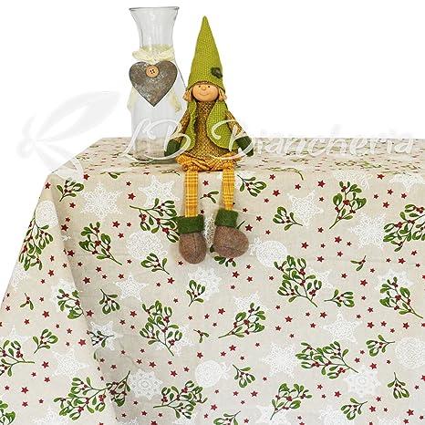 R P Tischdecke Weihnachten Mistelzweig Made In Italy