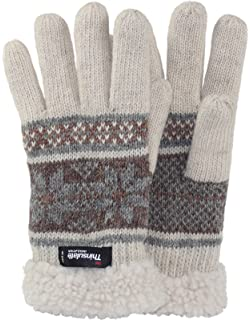da1eb2a1f35bbc Brubaker Damen oder Herren Thinsulate Rentier Fingerhandschuhe ...