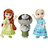 Disney Frozen Petite Anna & Elsa Dolls with Surprise Trolls Gift Set, Each Doll is Approximately 6 inches Tall - Includes 2 T