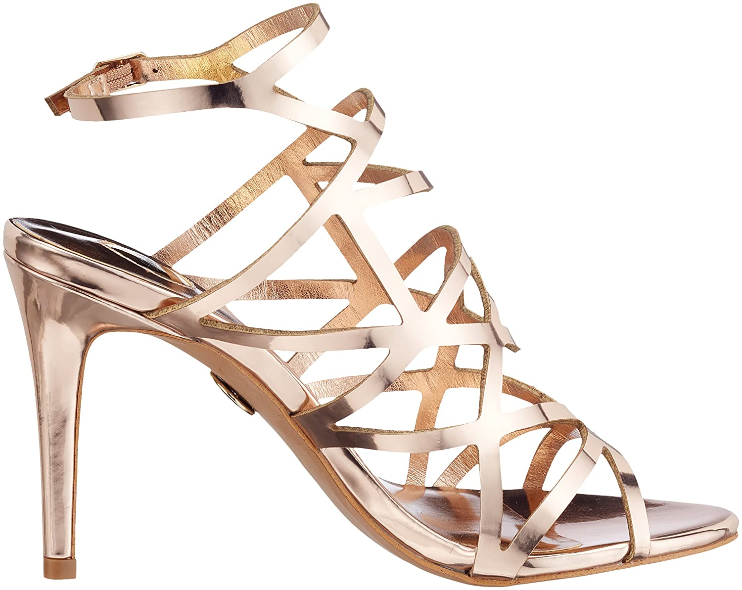Womens 317-2933 Mirror Pu Ankle Strap Sandals Buffalo Low Cost Cheap Online Ebay O6VRpQ