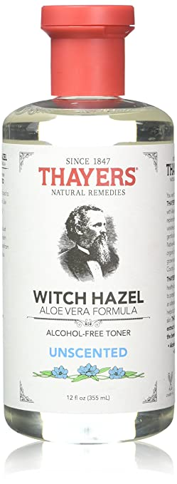 Unscented Witch Hazel - Perfect Skin Toner After Shaving & Shower 12oz Pack of 2 pore refining skin toner ph balancing purifier with sage and witch hazel 4 ounces natural advantage by jane seymour