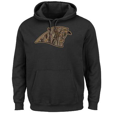 new product 4dcc7 8923a Carolina Panthers Majestic Camo Tek Hooded Sweatshirt