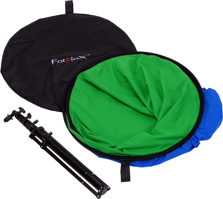 1,4 m Tel/ón de fondo para fotograf/ía para fotos port/átiles al aire libre con bolsa de transporte plegable con fondo de cromo reversible color verde