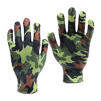2 Gartenhandschuhe Arbeitshandschuhe Paintball Tarnfarbe Camouflage Handschuhe