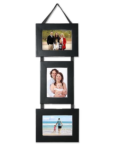 Black Picture Frames Set Three (3) 5x7 Photo Frames on Hanging ...