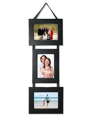 my barn wood frames set of three 5x7 photo frames on hanging ribbon2