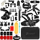 SHOOT 31 in 1 Must Have Accessories Kit with Carrying Case for GoPro Hero 7 Black Silver White/6/5/4/3+/3/5 Session/Hero(2018)/Fusion Campark AKASO DBPOWER Crosstour FITFORT Accessories