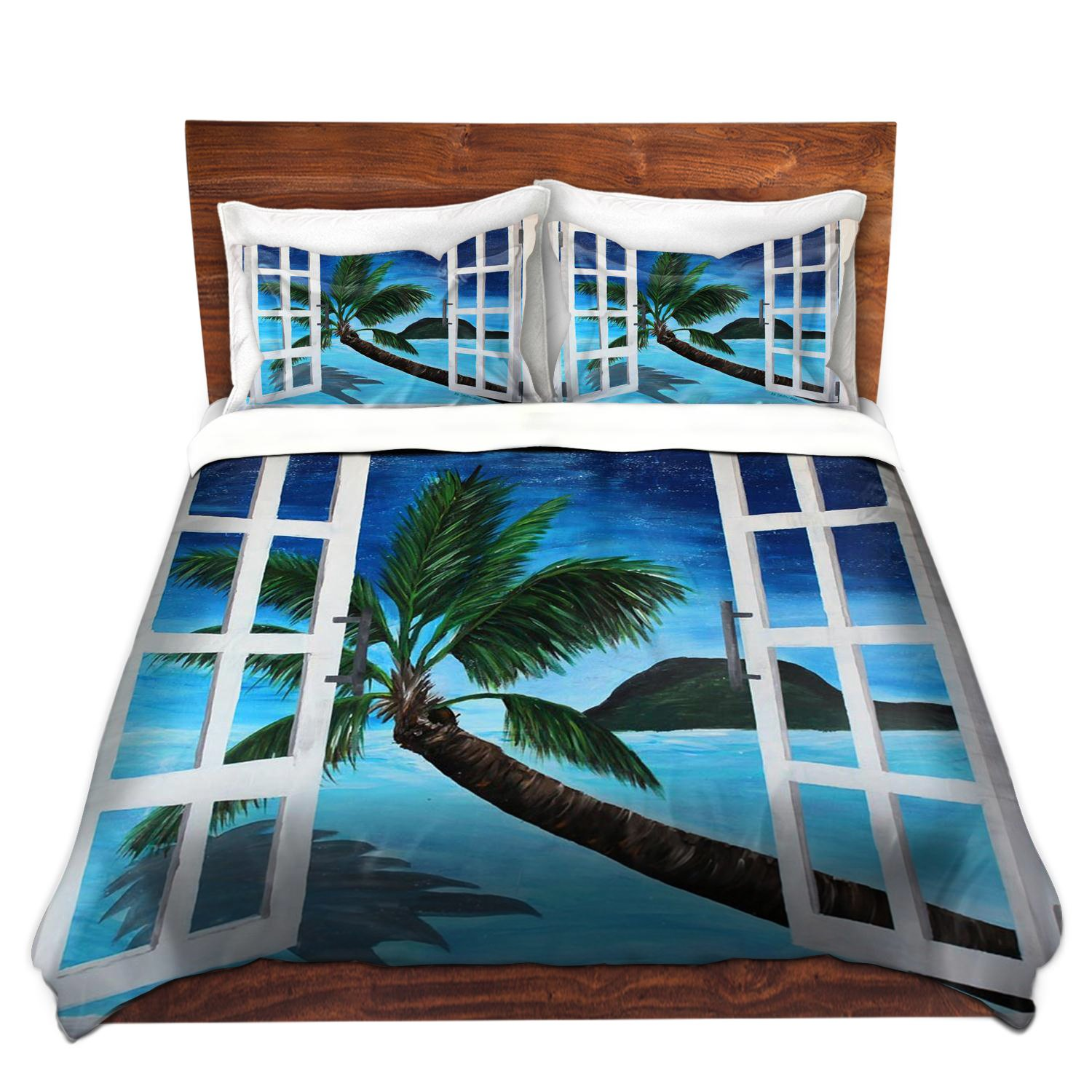 DiaNoche Designs Microfiber Duvet Covers - Window To Paradise