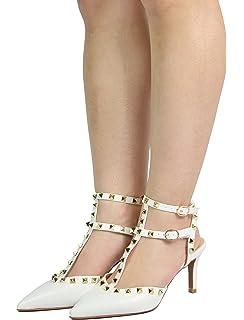691af4461bf DREAM PAIRS Women s Rockstar Low Fashion Stilettos Pointed Toe Pump Shoes