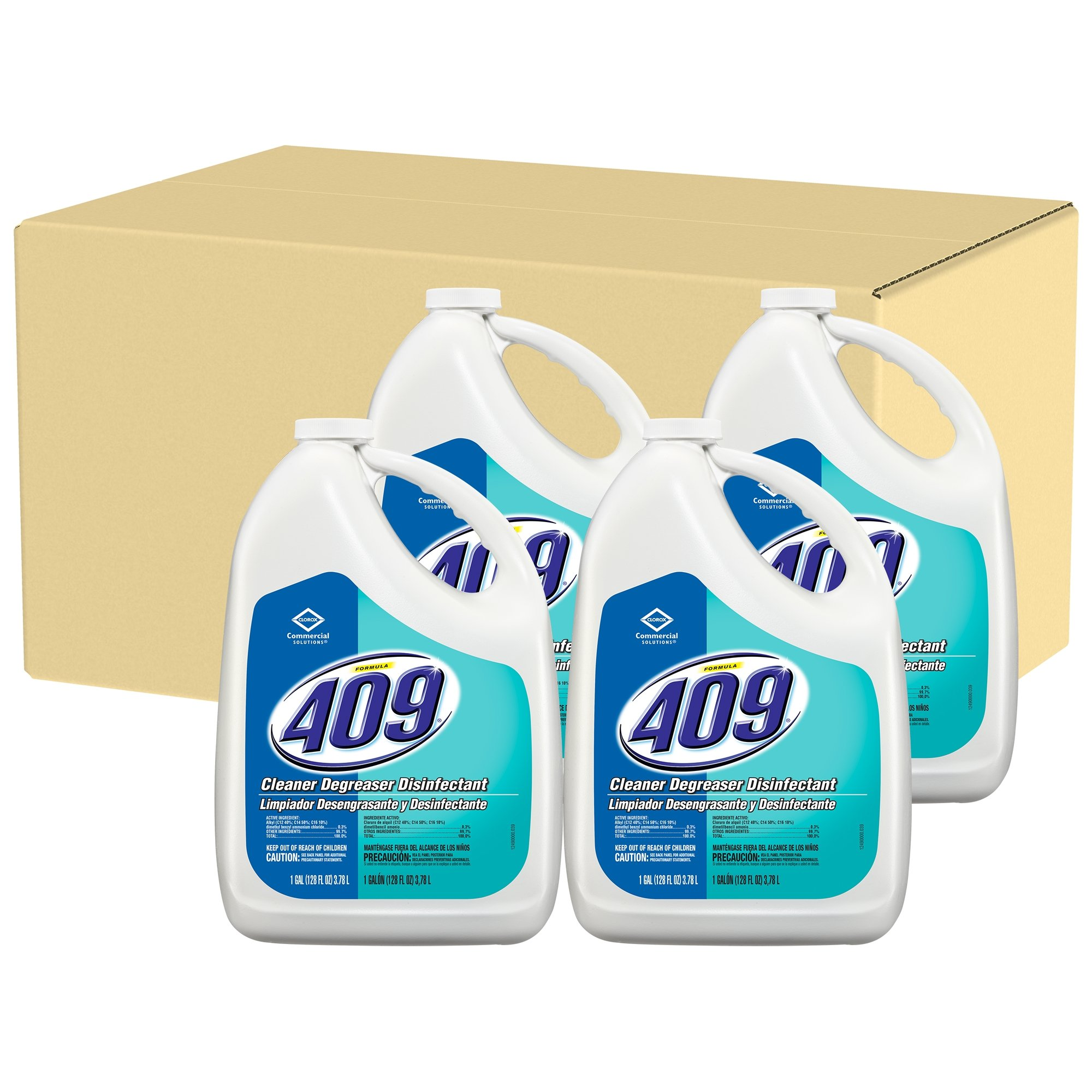 Formula 409 Cleaner Degreaser Disinfectant, Refill, 128 Ounces, 4 Bottles/Case (35300) by Clorox