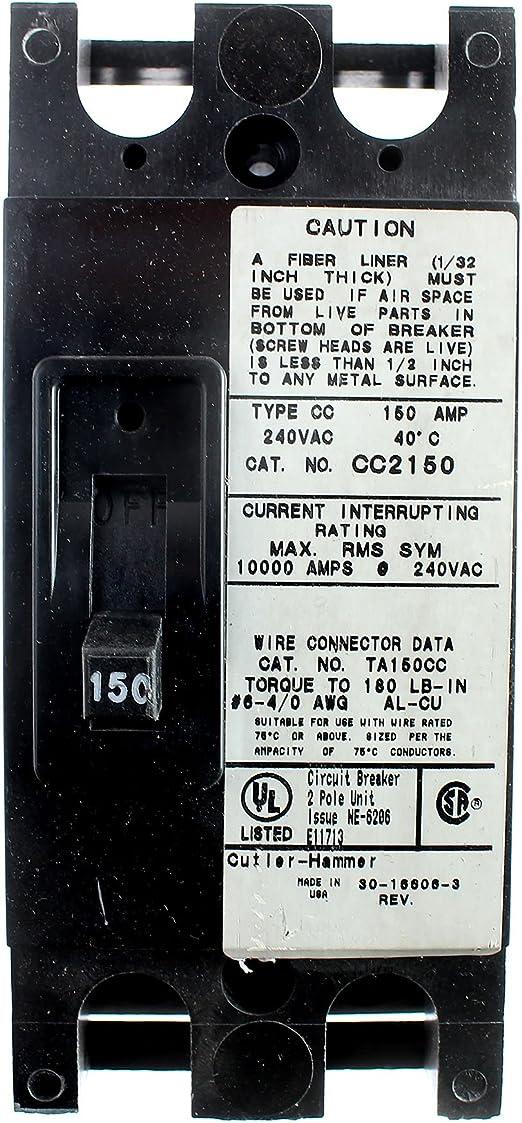 C Type Single Pole PLSM Eaton MCB 50 Amp C Curve C50242211