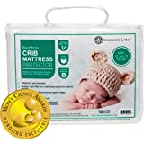 Margaux & May Crib Mattress Protector Pad (Mom's Choice Award Winner) Noiseless - Dryer Friendly - Deluxe Bamboo Rayon…
