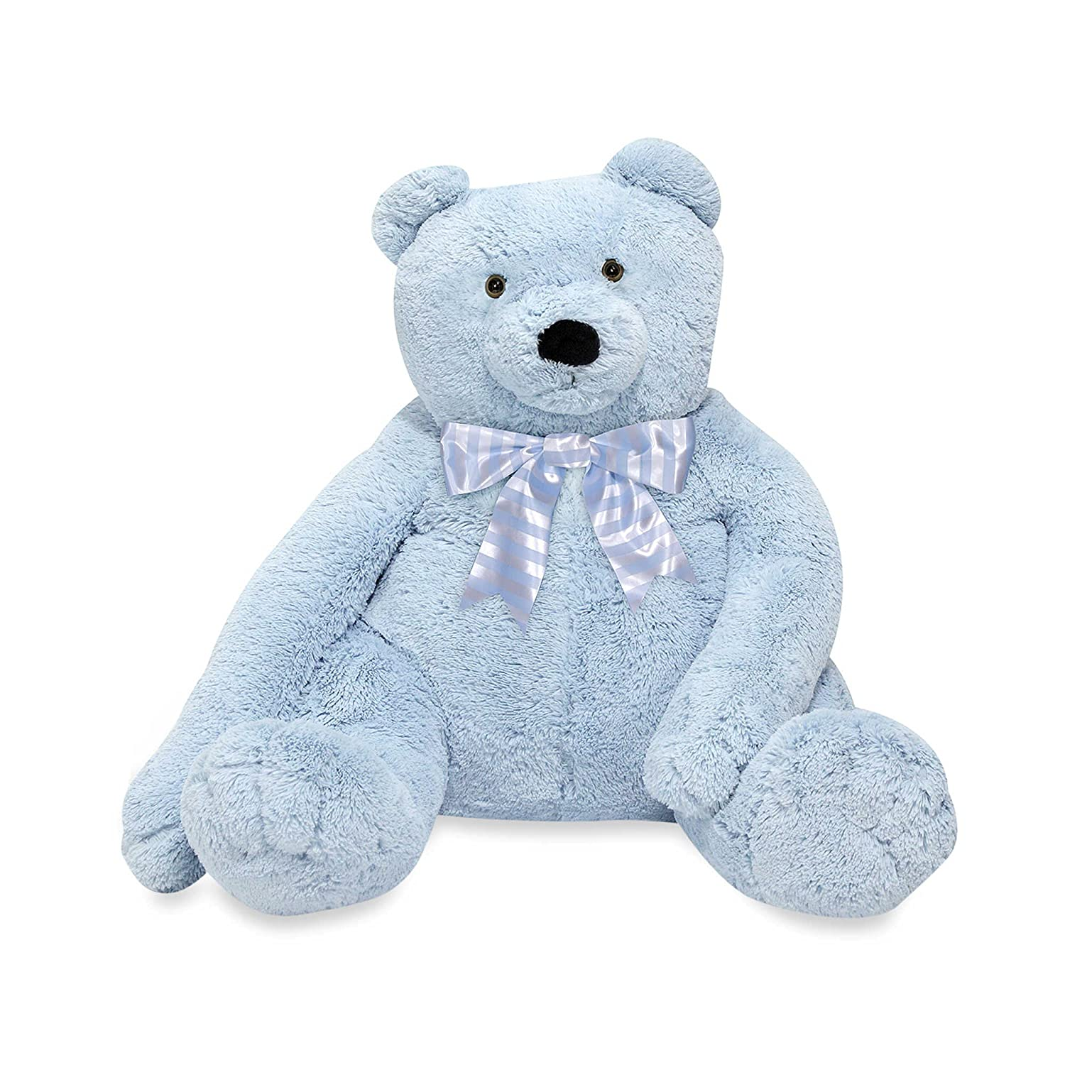 Amazon.com: Soft, Cuddly, Jumbo Blue Teddy Bear Plush with Extra Long arms: Toys & Games