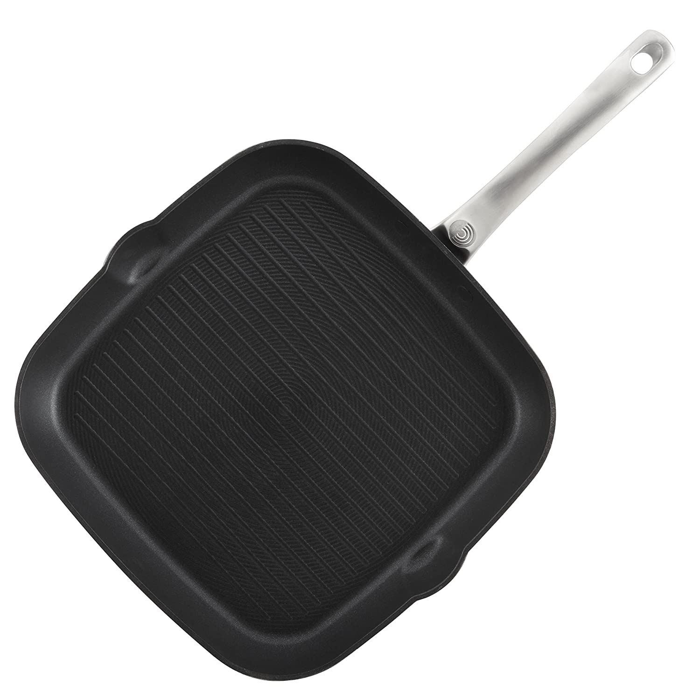 Circulon Ultimum Forged Aluminum Nonstick Square Grill Pan Black 10868 11-Inch