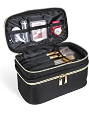 Lifewit Travel Makeup Case Bag, Portable 2-Decker Makeup Storage Bag, Black