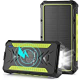 Solar Charger 36000mAh Wireless Portable Solar Power Bank External Battery Pack Rainproof Solar Phone Charger with 3A Fast Ch