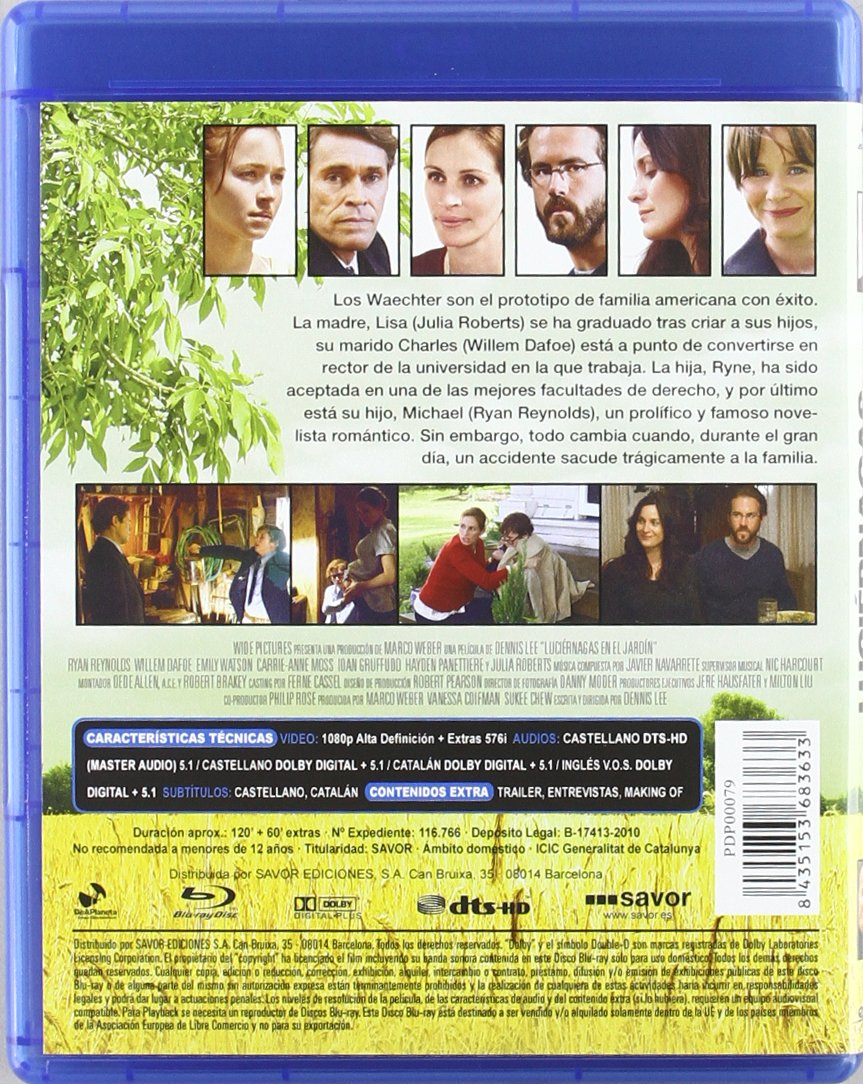 Luciérnagas en el Jardín [Blu-ray]: Amazon.es: Ryan Reynolds, Willem ...